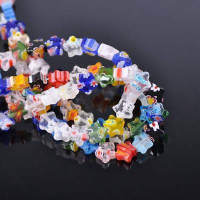 50pcs 8mm Star Colorful Millefiori Glass Loose Spacer DIY Craft Beads Lots
