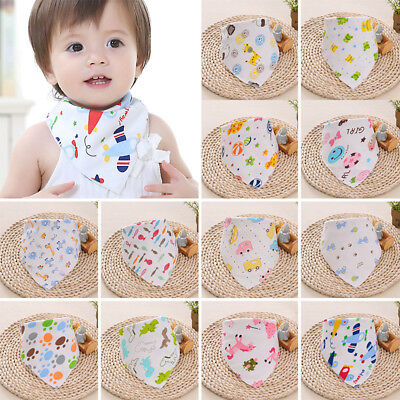 1PC Triangle Organic Cotton Baby Bandana Bibs for Drooling & Teething Absorbent