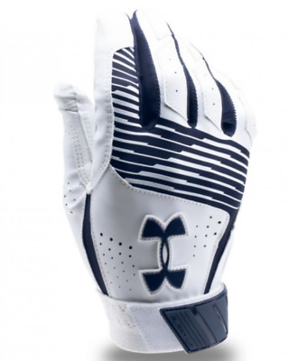 Under Armour Clean Up Batting Glove, Youth, White & Navy