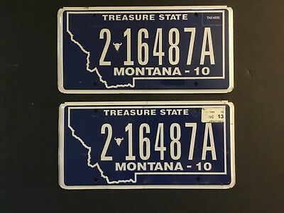 2 16487A= 2013 MONTANA License plate Hill Co, Pre Owned FREE US SHIPPING,