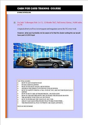Business Opportunity Cash For Cars Business trading System Work from Home