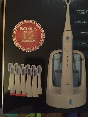Pursonic S750 Sonic Toothbrush UV Sanitizer. Bonus 12 Brush Heads NEW