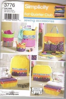 Simplicity 3776 Sewing Machine Cover Organizers Sewing Pattern Container
