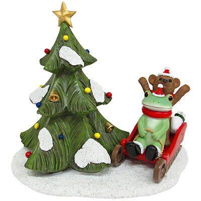 Copeau Frog Bear Sled Christmas Xmas Winter Snow Mini Figurine Japan Toy F/S