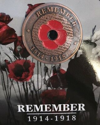 WW1 The Great War Poppy Penny 1914-1918 * Remembrance Day * ANZAC Day