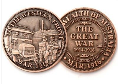 Western Front 1916 Commemorative Penny *ANZAC Day * 2016