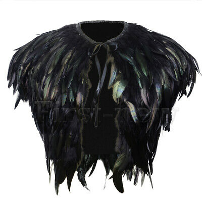 Womens Peacock Feather Cape Nightclub Coats Ladies Steampunk Evening Jackets