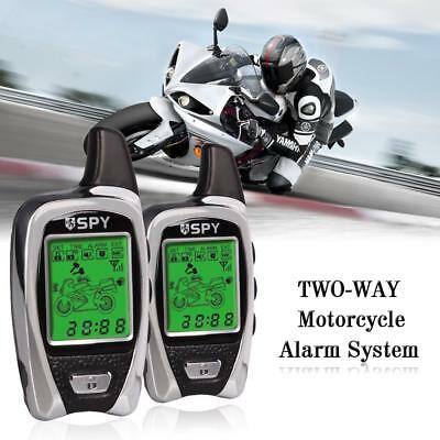 Anti-theft Motorcycle Alarm System 5000m Two Way 2 LCD Transmitter Remote On/Off