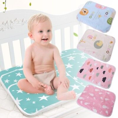 Baby Changing Pad Foldable Waterproof Stroller Diaper Reusable Mattress 35x45cm