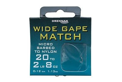 Drennan Wide Gape Match Hooks To Nylon All Sizes Coarse Fishing