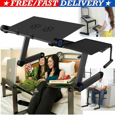 Laptop Stand Tablet Holder Notebook Tray with Cooling Fans Detachable Mouse Tray