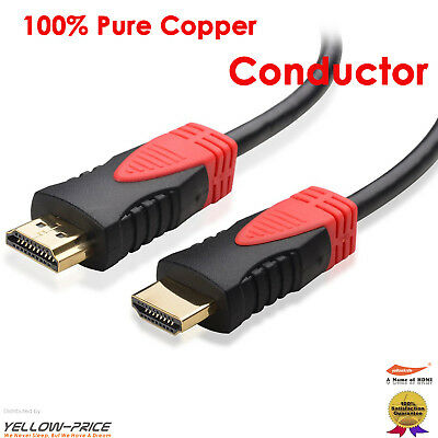 3FT-50FT PREMIUM HDMI Cable v1.4a HD High Speed 4K 2160p 3D Lead By Yellowknife