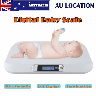 LCD Electronic Digital Baby Scale 20Kg/44lbs Weigh Scales Newborns Pets Puppies