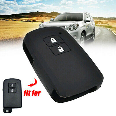Key Case Cover Silicone For Toyota Auris Camry RAV4 Yaris Remote Fob 2 Button