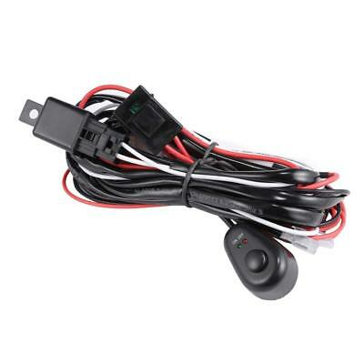 Universal LED Wiring Loom Harness Light Bar 1To2 Leads Switch Relay Fuse 12V 40A