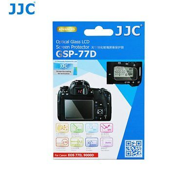 JJC GSP-77D Ultra-thin Glass LCD Screen Protector for Canon EOS 77D 9000D _AU