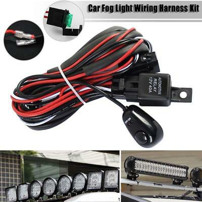 12V 40A LED Wiring Loom Harness Work Light Bar Switch Relay Fuse 1Lead Cable Kit
