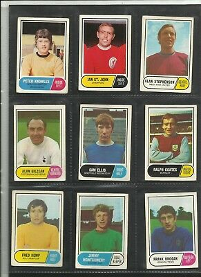 .A&BC Football Facts Green Back Choose Your Card 1969 .