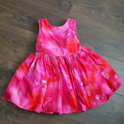 Ted Baker Pink mix Dress Aged 3-4 years girls summer holidays casual party