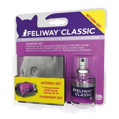 (EUR 49,95/100ml) FELIWAY CLASSIC Transport-Spray 20ml + Transportboxabdeckung