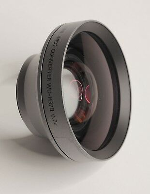 Genuine Canon WD-H37II Wide-converter Lens 0.7x for Camcorders 37mm Thread