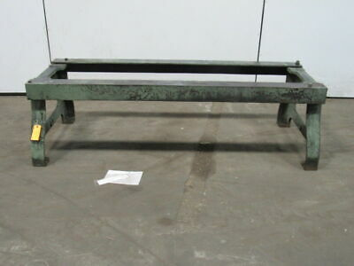 "Judelshon Cast Iron Legs Table Work Bench Machine Base 20""Hx 70""Lx 24-1/4""W"