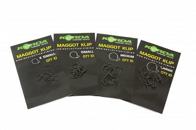 Korda Maggot Klip Maggot Clips All Sizes Full Range Carp Specimen Fishing