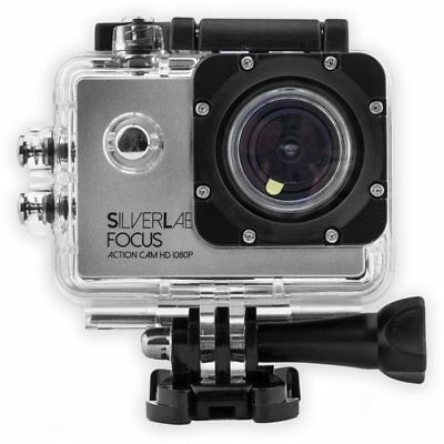 SilverLabel Focus Action Cam 1080p Camera Silver/Black One Video Photography