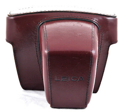 Leica slr red/ burgundy ever ready case- top half- ideal replacement
