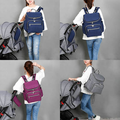 Multi-Functional Mummy Diaper Bags Baby Nappy Large Travel Backpack USB Charging