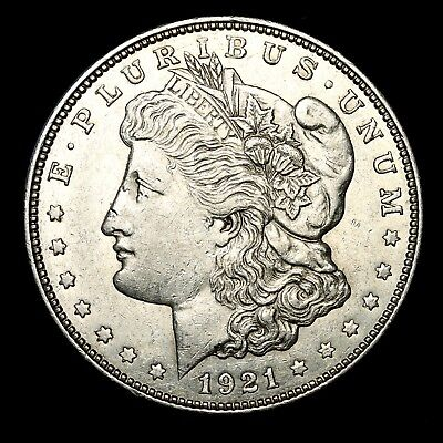 1921 D ~**ABOUT UNCIRCULATED AU**~ Silver Morgan Dollar Rare US Old Coin! #636