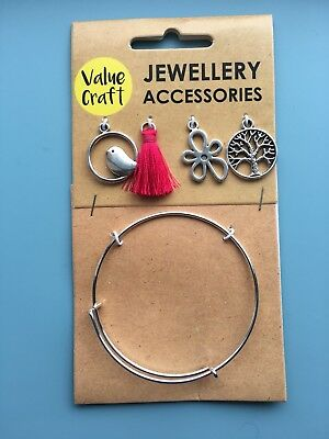 Jewellery Making Kit 5pcs DIY Charm Bracelet Crafts Gift For Girls and Women