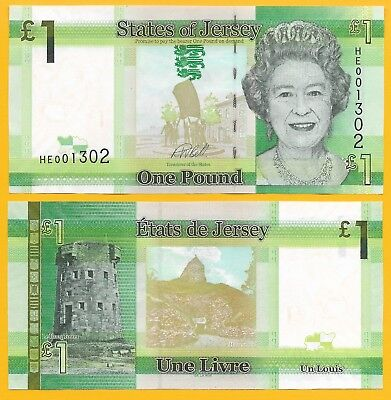 Jersey 1 Pound p-32 2018 (NEW signature) UNC Banknote