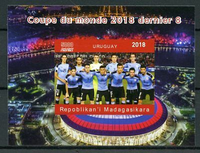 Madagascar 2018 MNH Football World Cup Uruguay Suarez 1v Deluxe S/S Stamps