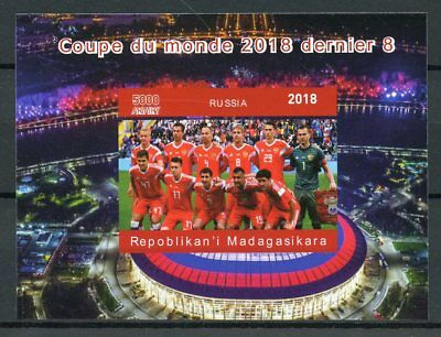 Madagascar 2018 MNH Football World Cup Russia 1v Deluxe S/S Sports Stamps