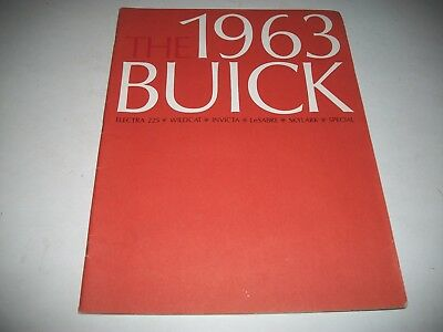 1963 Buick Full Line  Deluxe  Large Sales Brochure Catalog Electra Wildcat