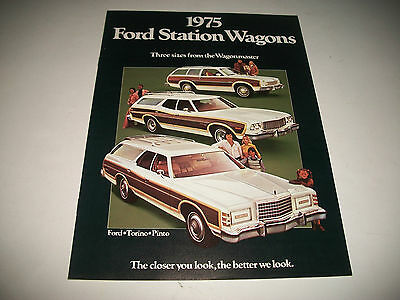 1975 Ford Station Wagons Sales Brochure Ford Torino Pinto Clean No Dealer Stamp