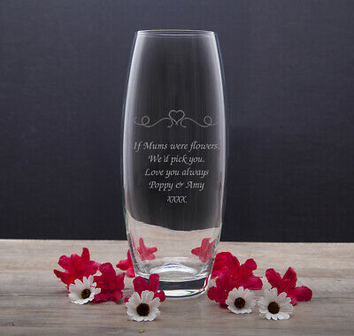 Personalised Teacher Thank You Gifts Ideas For Present Leaving School Glass Vase