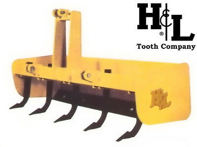 "Box Blade Box Scraper 60"" H&L Tooth Co. Heavy Duty with 5 Forged Scarifiers USA"