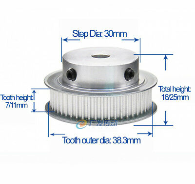 MXL60T Timing Pulley Synchronous Gear 5/6/8/10/12/15/17/20mm Bore For 3D Printer