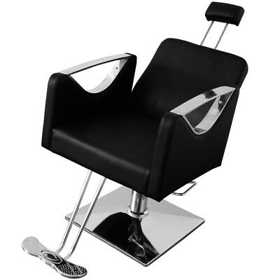 Tilting Reclining Hydraulic Barber Salon Chair Beauty Hairdressing Threading Spa