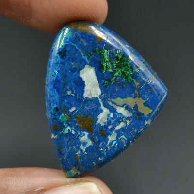 Cts. 36.50 Natural Azure Color Azurite Cabochon Fancy Cab Loose Gemstone