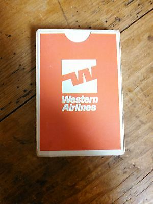 Vintage 1970's Era Western Airlines Playing Cards /