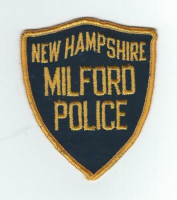 VINTAGE MILFORD, NEW HAMPSHIRE POLICE (CHEESE CLOTH BACK) patch