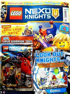 Lego Nexo Knights Issue #5 ~ New Sealed With Lego Toy ~