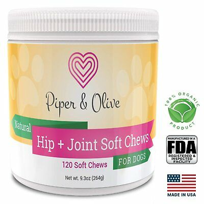 Piper and Olive Hip and Joint Glucosamine Soft chews for Dogs Pets Vitamins
