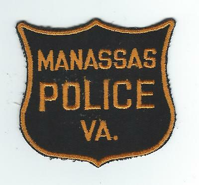VINTAGE MANASSAS, VIRGINIA  POLICE (CHEESE CLOTH BACK) patch