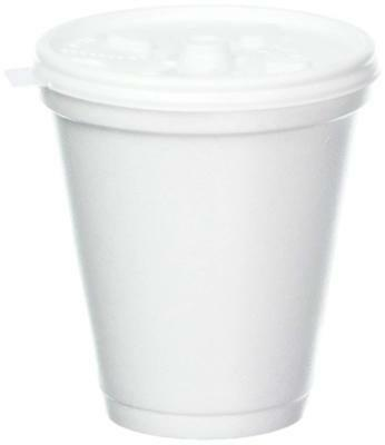 Dart 8 Oz White Disposable Coffee Foam Cups Hot And Cold Drink Cup (Pack Of 100