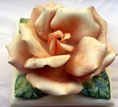 Rose - Ceramic Lid / Top to Cookie Jar or other container - vintage art