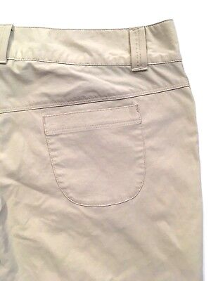 Columbia Women Pants 12 Beige Stretch Omni Shade Zip Front Pockets Hiking Casual